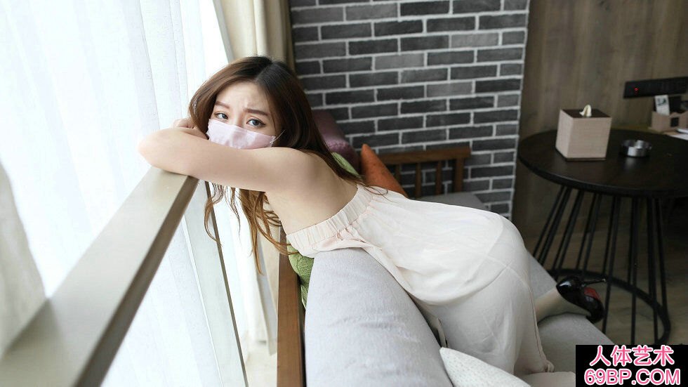 ROSI口罩NO.631白色睡衣妹子无内淡绿肉丝